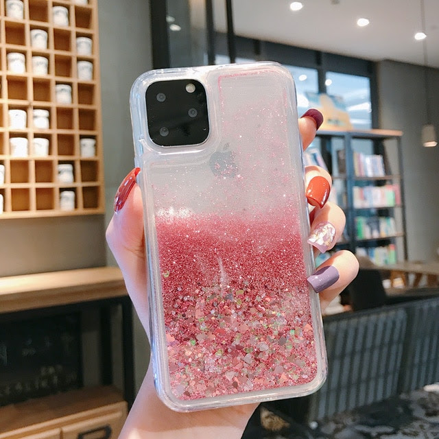 coque iPhone12 pro max Love Heart Pink