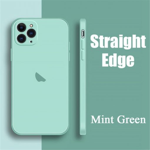coque telephone iPhone12Pro Max Mint Green