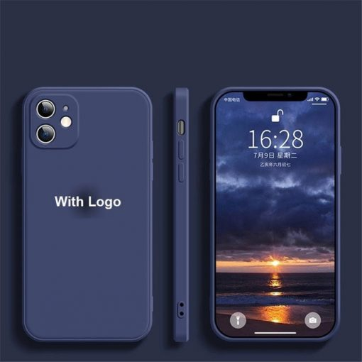 coque telephone iPhone12Pro Max Navy