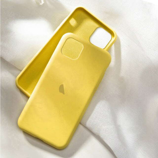 coque telephone iphone12 Pro Max 3 yellow